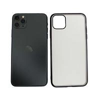 Чехол Apple iPhone 11 Pro Max силиконовый прозрачный, черный
