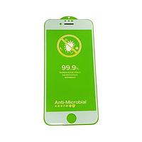 Антибактериальное Закаленное стекло для экрана Apple iPhone 7/8 Белый / Прозрачный
