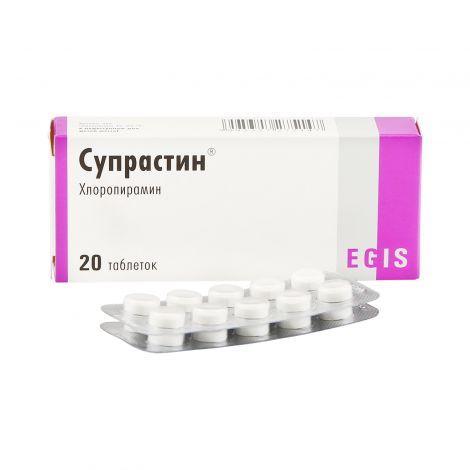 Супрастин 25 мг №20 таб