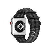 Ремешок Apple Watch 42-44mm Woven Nylon Sport Loop Band, белый в сером