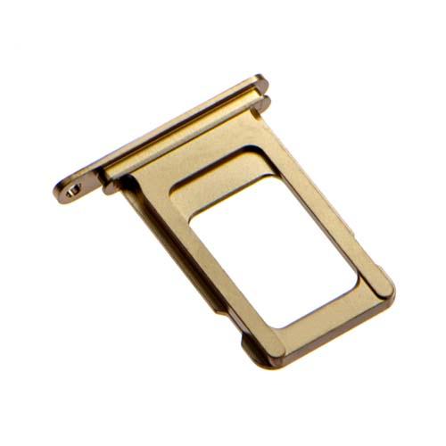 Держатель SIM-карты Apple iPhone XS MAX, золото, оригинал с разбора
