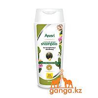 Шампунь с кактусом и имбирем (Hair strengthening and smoothening shampoo AYUSRI), 200 мл.