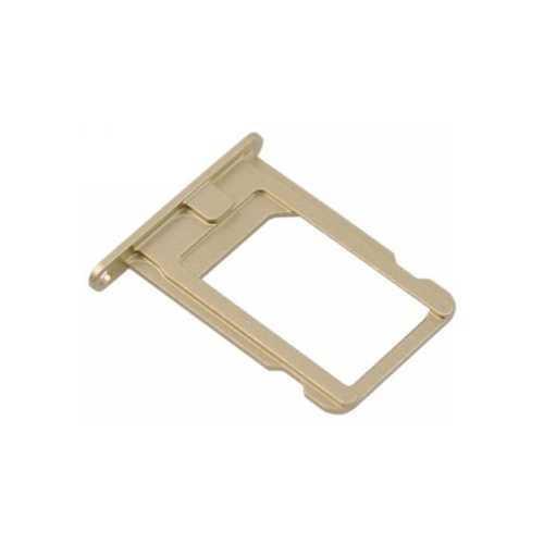 Держатель Sim-карты Apple iPhone 6, золотой (Gold) (оригинал с разбора)