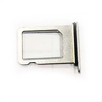 Держатель SIM-карты Apple iPhone X, серебрянный, оригинал с разбора