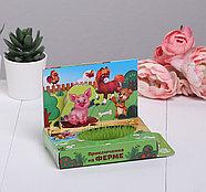 """Растущий сувенир """"Приключения на ферме"""" в открытке   4708018, фото 2"""