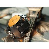 Apple Watch Hermès (Rock) ремешок Manchette 38mm, кожанный, черный (Black)