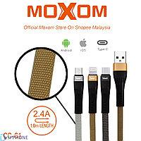 Кабель питания MOXOM CC-61 быстрая зарядка (USB Type-C\ Lightning)