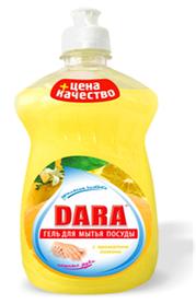 Средство для мытья посуды DARA лимон 500 мл