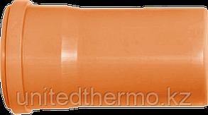 Труба ПП д110*1000 (3.4мм) оранжевая