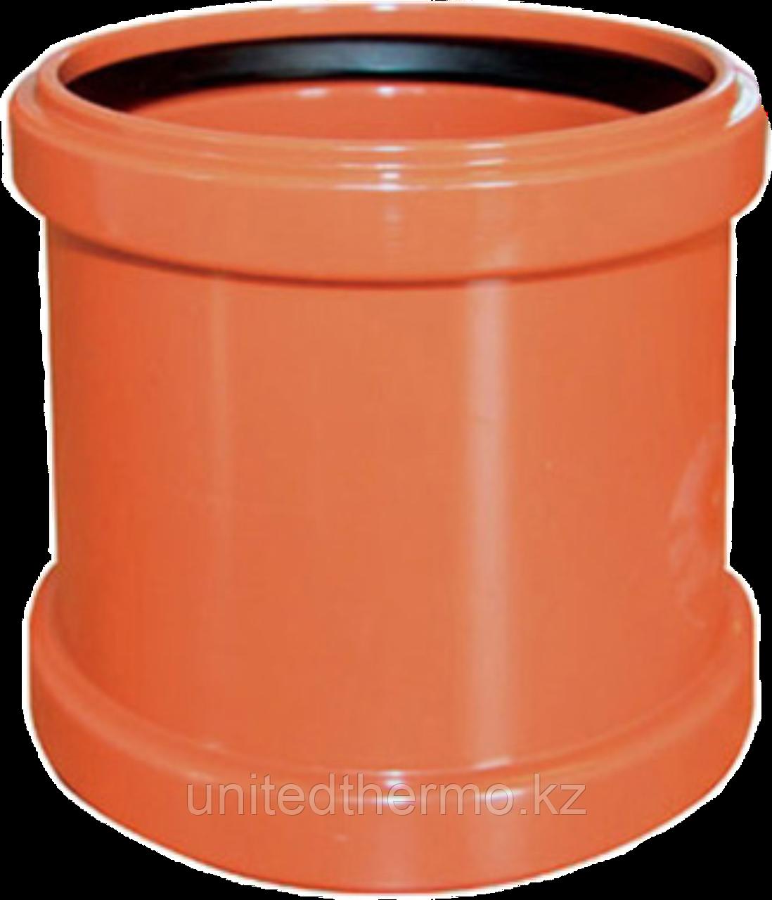 Муфта ПП д160 (4.9мм) оранжевая