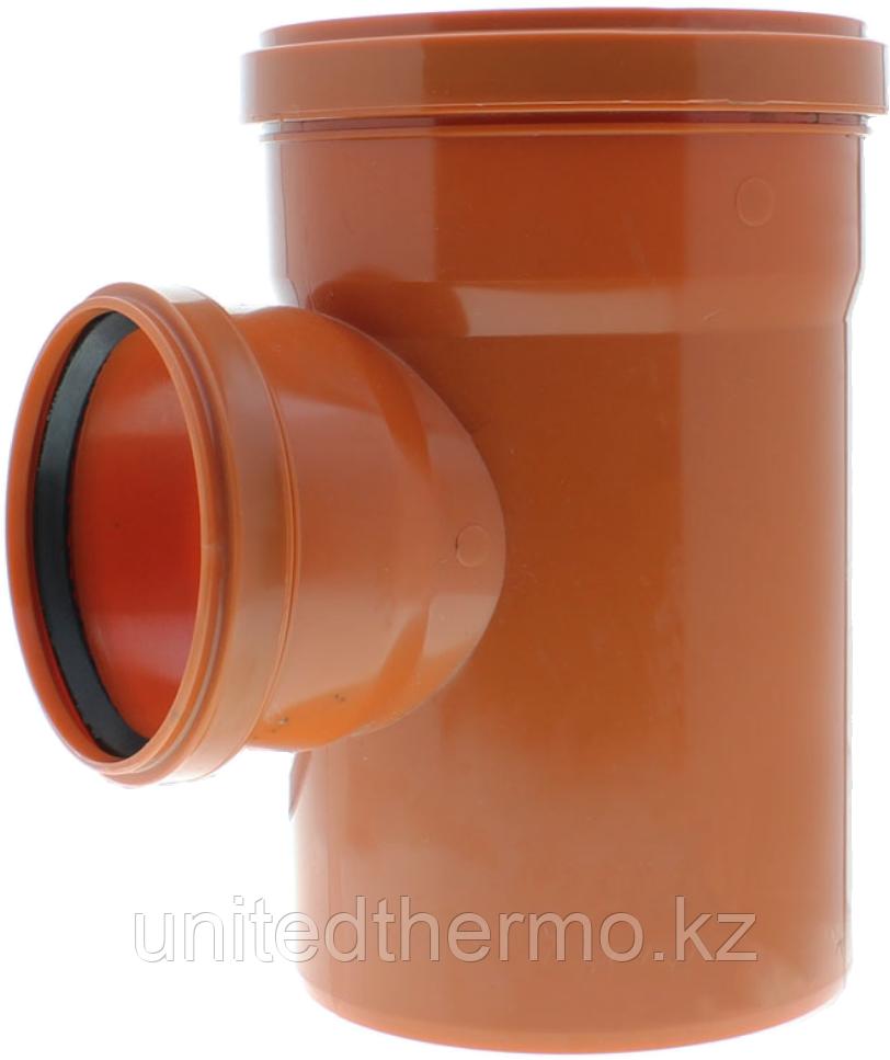 Тройник ПП д110*110*110/45 (3.4мм) оранжевый