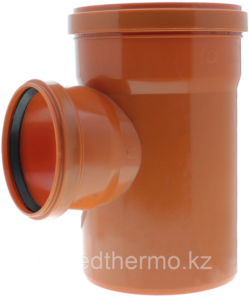 Тройник ПП д110*110*110/90 (3.4мм) оранжевый