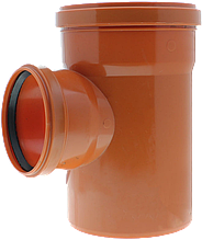 Тройник ПП д160*110*160/45 (4.9мм) оранжевый