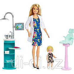 "Mattel Barbie ""Любиная профессия"" дантист блондинка FXP16"