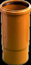 Патрубок ПП д110 (3.4мм) компенсационный, оранжевый