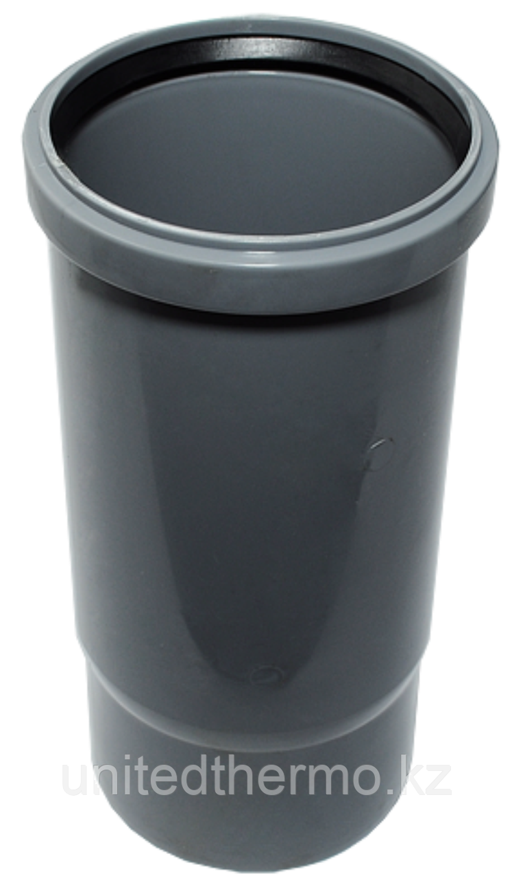 Патрубок ПП  д110 (2.7мм) компенсационный, серый