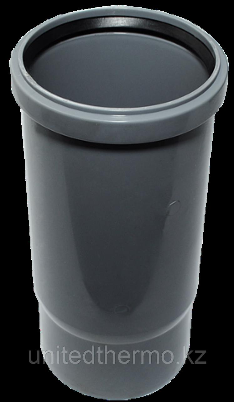 Патрубок ПП д50 (1.8мм) компенсационный, серый