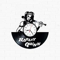Настенные часы из пластинки Harley Quinn Харли Квинн, подарок фанатам, любителям, 1611