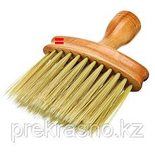 Щетка сметка парикмахера большая с деревянной ручкой