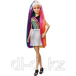 "Mattel Barbie ""Радужное сияние волос"" Кукла Барби Блондинка FXN96"