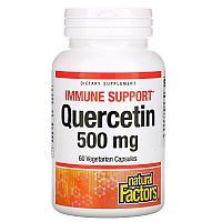 Natural Factors, кверцитин, 500 мг, 60 вегетарианских капсул