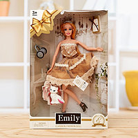 Кукла модель «Эмели» в платье, с аксессуарами