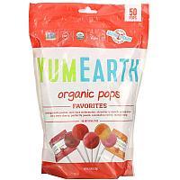 YumEarth, органические леденцы, любимое ассорти, 50 леденцов, 310 г (10,9 унции)