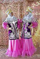 Казахская одежда пошив платьев с жилетом