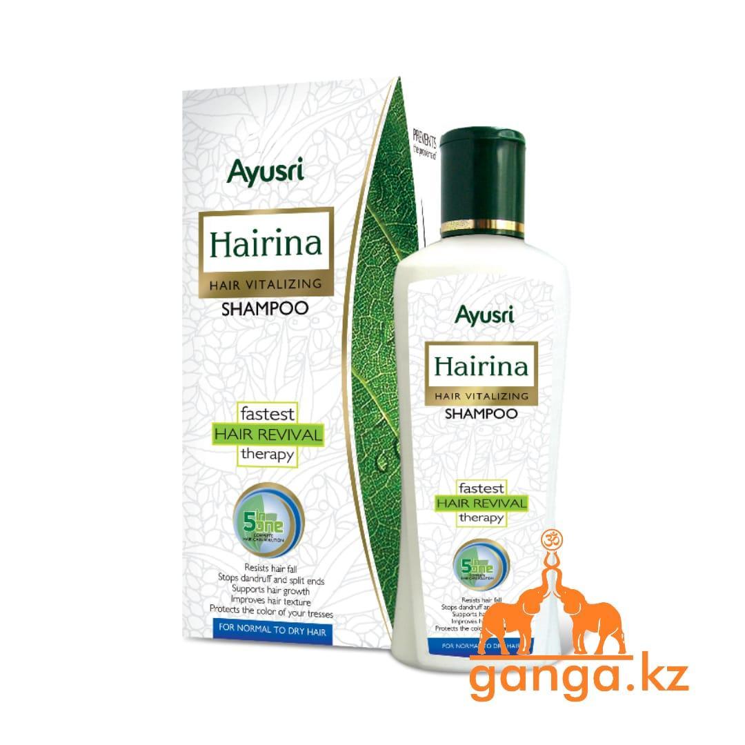 Аюрведический шампунь Хэйрина 5 в 1 (Hairina shampoo 5 in one AYUSRI,), 200+20 мл