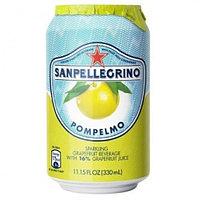San Pellegrino сокосодержащий напиток Pompelmo 0,33 л, 24 шт