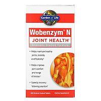 Wobenzym N, средство для здоровья суставов, 200 таблеток, покрытых кишечнорастворимой оболочкой