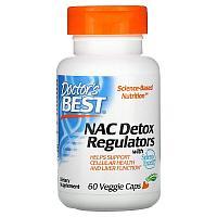 Doctor's Best, N-ацетилцистеин (NAC) для регуляции процесса детоксикации, 60 вегетарианских капсул