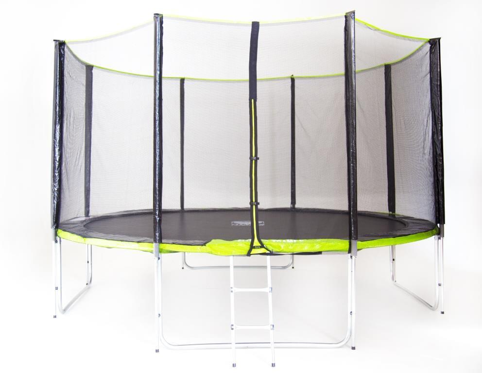 Батут Fitness Trampoline GREEN 12 FT Extreme