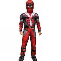Костюм детский карнавальный водолазка и брюки с маской и имитацией мускулов для мальчиков Дэдпул Deadpool