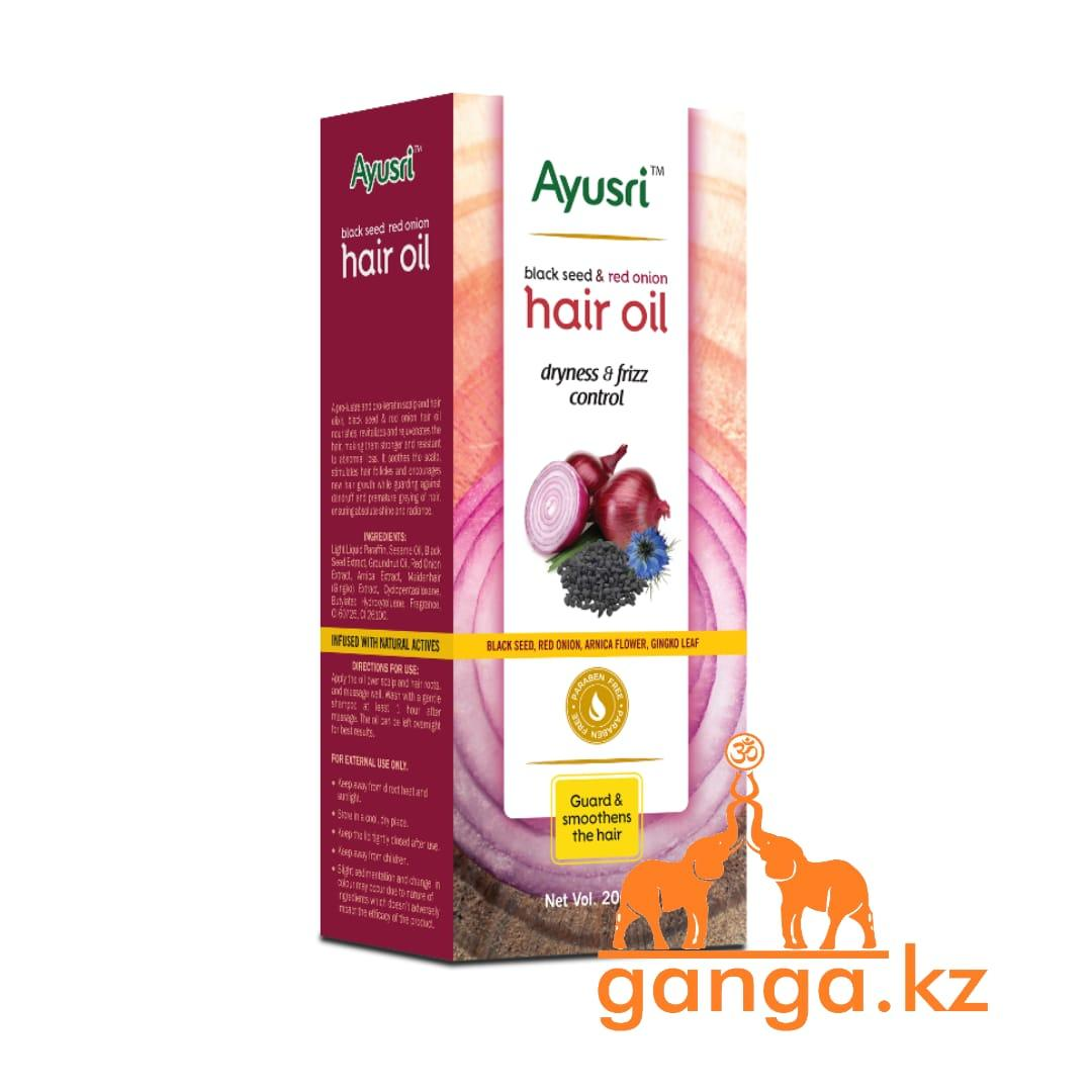 Питательное масло для волос с Черным тмином и Красным луком (Black seed and red onion hair oil AYUSRI), 200 мл