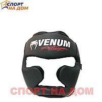 Бокс Шлем Venum Франция (кожзам-чёрный) М