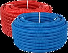 Труба Varmega гофрированная ПНД, красная и синяя