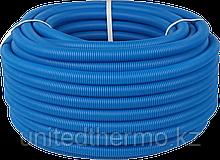 Труба ПНД 25 мм (труба 20) гофрированная Varmega, синяя