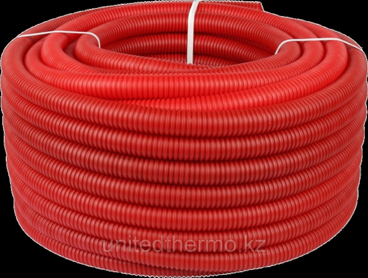 Труба ПНД 20 мм (труба 16) гофрированная Varmega, красная