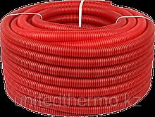 Труба ПНД 25 мм (труба 20) гофрированная Varmega, красная