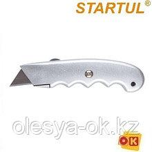 Нож с выдвижным трапециевидным лезвием STARTUL MASTER (ST0935)