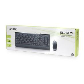 Проводная Клавиатура + Мышь Delux DLD-6075OUB, фото 2