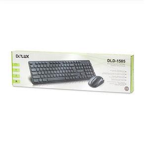 Беспроводная Клавиатура + Мышь Delux DLD-1505OGB, фото 2