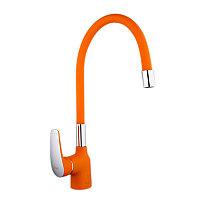 Смеситель для кухни Frap, с гибким изливом F4453-02 Оранжевый, фото 1