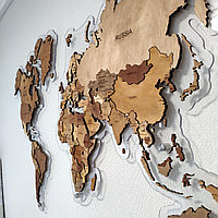 Карта мира из дерева