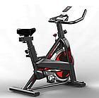 Велотренажер SpinBike (черный) AF-6105, фото 3