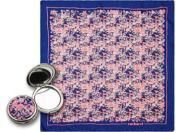 Набор Cacharel: зеркало, шелковый платок