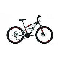 """Велосипед ALTAIR MTB FS 24 disc (24"""" 18 ск. рост 15"""") 2020-2021, черный/красный, RBKT1F14E003"""