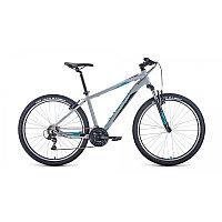 "Велосипед FORWARD APACHE 27,5 1.2 (27,5"" 21 ск. рост 19"") 2020-2021, серый/бирюзовый, RBKW1M37G011"