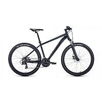 """Велосипед FORWARD APACHE 27,5 2.2 disc (27,5"""" 21 ск. рост 17"""") 2020-2021, черный матовый/черный,"""